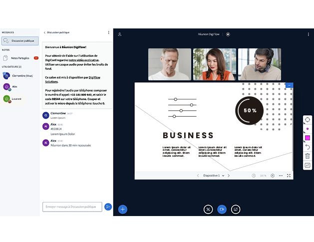 Visioconférence d'entreprise